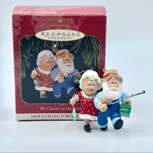 1997 Hallmark Clauses on Vacation Ornament
